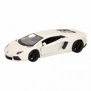 Lamborghini Speelgoed Lamborghini Aventador LP700-4 wit Welly autootje 12 cm Wit