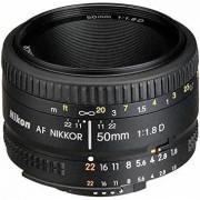 Nikon Objektiv AF Nikkor 50mm 1:1.8 D Svart