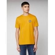 Ben Sherman Script Chest Target T Shirt XS Gold