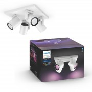 Philips Hue Argenta opbouwspot - White and Color - 4-spots wit