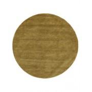 RugVista Tapis Handloom - Vert olive Ø 200 Tapis Moderne, Rond