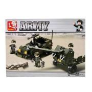Army tankelhárító 138 darabos építőkészlet 3 figurával