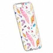 Husa Silicon Transparent Slim Happy Feathers Apple iPhone 6 PLUS 6S PLUS
