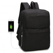 Men Nylon Travel Casual 15.6' Laptop Backpack With External USB Charging Port