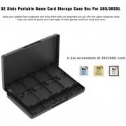 EH 32 Ranuras Caja De Juegos Portátil De Protección De Almacenamiento Duro Caja De Caja Para 3DS / 3DSXL - Negro