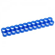 Clema E22 Stealth cu 24 sloturi pentru prinderea cablurilor, latime slot 4mm, culoare albastra