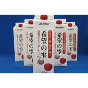 希望の雫(紙P)りんごジュース果汁100%ストレート 1L×6本