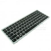 Tastatura Laptop IBM Lenovo IdeaPad G400 cu rama argintie + CADOU