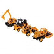 MagiDeal 4 Types of Plastic Model Car Vehicle Excavator Bulldozer Toys Gift for Kids 6.5 x 3cm