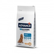 Pack ahorro: Advance para perros 2 x 7,5 a 15 kg - Medium Adult pollo y arroz (2 x 14 kg)