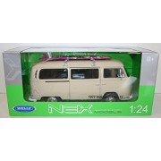 Welly Nex 72 Volkswagen Bus T2 Camper Van Official Vw Product Cream with Surfboard