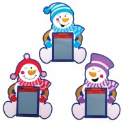 Baker Ross Snowman Magnetic Drawing Boards - 8 Doodle Boards For Kids In 4 Designs. Stocking Filler Magic Slates. Size 24cm.