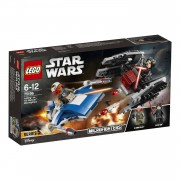 LEGO Star Wars A-wing vs. TIE Silencer microfighters 75196