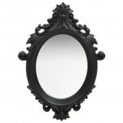 vidaXL Стенно огледало, стил замък, 56x76 см, черно
