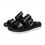 Moda Hombre zapatos planos Sandalia Slip-on zapatillas Cómodo, transpirable Negro
