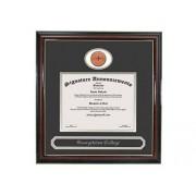 "Signature Announcements Georgetown-College Undergraduate, Graduate esculpido Lámina de Oro Sello y Nombre de Diploma Marco, 20"" x 20"", Accent Brillante Caoba"