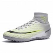 Hoge top antislip Wearable en comfortabele voetbalschoenen Soccer cleats voor mannen schoenmaat: 7.5 (TF wit)
