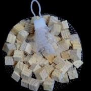 Houten blokjes naturel 15 cm