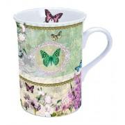 AMB.18608320 Butterfly Medallion porcelán bögre doboznam 0,25l