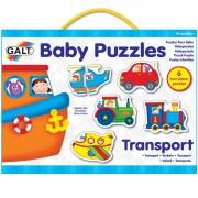 Set de 6 puzzle-uri Baby Puzzles Galt, Transport, 18 luni+