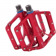 Un Par B351 Cartucho Sellado Con Pedales De Aleacion De Aluminio + Acero Eje 9 / 16 Pulgadas Para Bicicleta MTB BMX (rojo)
