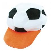 Oranje voetbal fleece cap