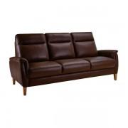 Oak Furnitureland Tan Leather Sofas - 3 Seater Sofa - Linden Range - Oak Furnitureland