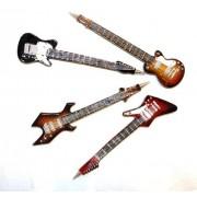 Rockn Roll Guitar Pens. Hand Painted Guitarz. Set Of 4