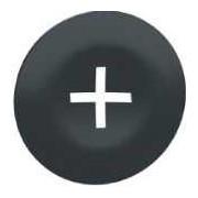 Capac negru marcat + pentru buton rectangular cu capete multiple - Butoane si lampi din metal Ø22 - ZBA7233 - Schneider Electric