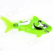 ROBO FISH Shark estilo electronico de juguete de pescado - verde + blanco (2 x LR44)