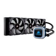 Водно охлаждане за процесор Corsair Hydro Series H150i PRO, Compatible with Intel (115x, 2011/2066) and AMD (AM3/AM2/AM4, AMD TR4 (Purchase TR4 bracket CW-8960054), 360mm Radiator, Advanced RGB Lighting and Fan Control with Software, Liquid CPU Cooler