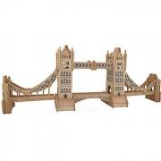 G-P055 DIY montaje Tower Bridge modelo de juguete - color de madera + azul