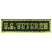 Squadron Products U.S. Veteran' Olive Hat Patch Clothing