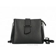 Fekete bőrtáska lánccal díszített pánttal rendelhető színekben