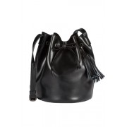 Leather Duffel Bag - Black - Womens