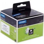 Dymo 11356 (S0722560) Etiket Zwart op wit (41 mm x 89 mm)