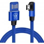 Enkay Hat Príncipe 2a USB A Micro USB Data Sync Cable De Carga De Nylon Tejido Estilo, Longitud De Cable: Acerca De 1m Para Samsung Galaxy S7 Y S7 EDGE / LG G4 / Huawei P8 / Xiaomi MI4 Y Otros Smartphones (azul)