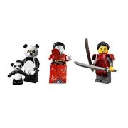 LEGO Lego Panda Guy Samurai Girl Kimono Girl Minifigures Custom Bundle