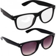John Dior Wayfarer, Wayfarer Sunglasses(Clear, Violet)