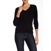 In Cashmere V-Neck Cashmere Sweater BLACK