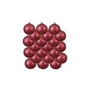Merkloos 18x Glazen kerstballen mat fuchsia roze 8 cm kerstboom versiering/decoratie