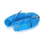 Furtun pneumatic spiralat pentru compresor de aer, 8 bar, 8x12mm, 10m