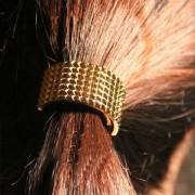 V&V Spona pro tvorbu copu - kovový půlměsíc (zlatá barva) - V&V
