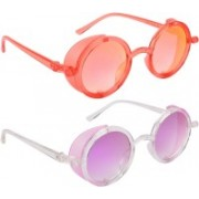 NuVew Round, Shield Sunglasses(Violet, Red)