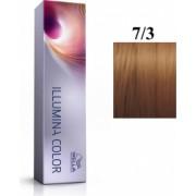 Wella Professionals Vopsea permanenta Wella Professionals Illumina Color 7/3 Blond Mediu Auriu 60ml