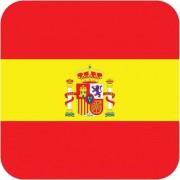 15x Bierviltjes Spaanse vlag vierkant - Spanje feestartikelen - Landen decoratie