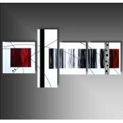 4 quadri Arte Moderna Bianco Rosso e Nero