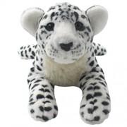 TAGLN Lifelike Stuffed Animals Toys Cheetah Plush Tiger Panther Lioness Pillows (White Leopard, 19 Inch)