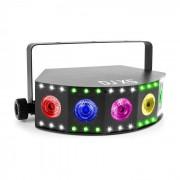 Beamz DJ X5 Array Foco LED 5x 10W 4en1 y 30x SMD RGB Modo DMX o Automático Negro (153.424)