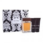Dolce&Gabbana The One For Men set cadou EDT 100 ml + Balsam dupa barbierit 50 ml + Gel de dus 50 ml pentru bărbați